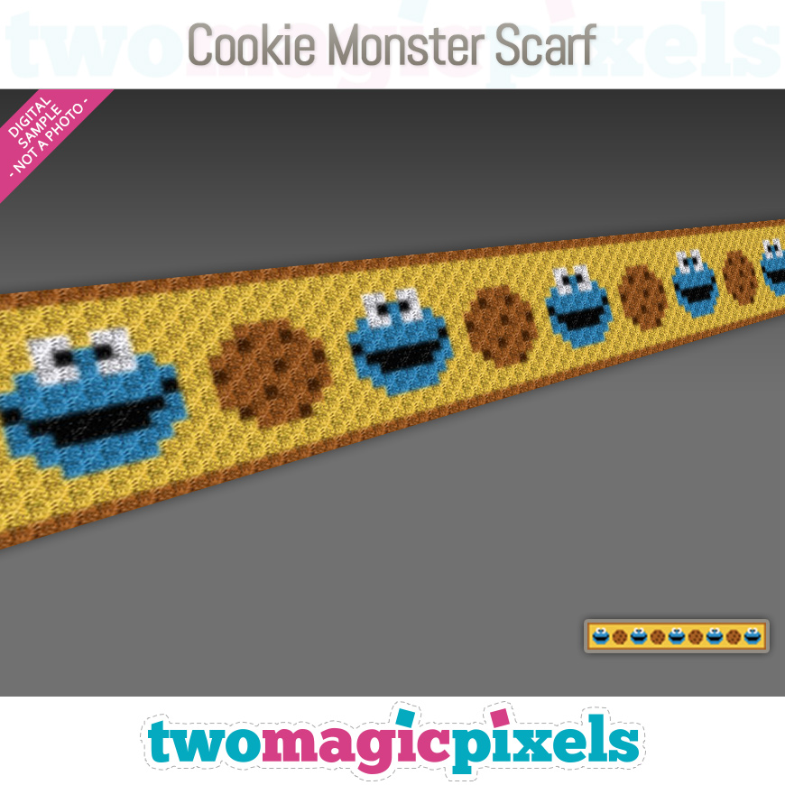 Cookie Monster Scarf by Two Magic Pixels