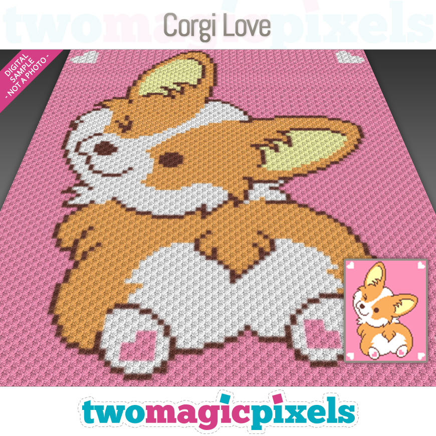 Corgi Love by Two Magic Pixels