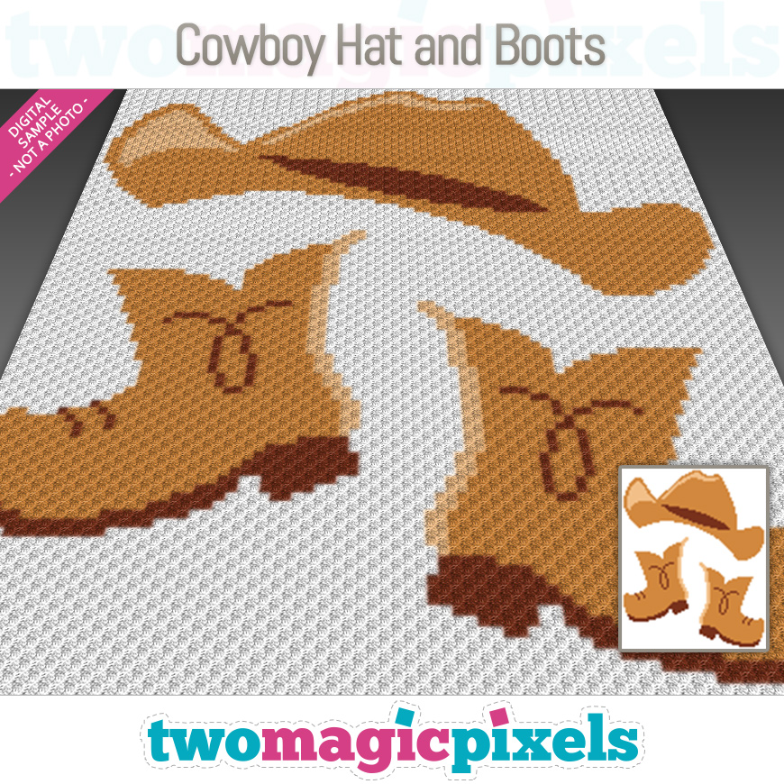 Cowboy Hat and Boots by Two Magic Pixels