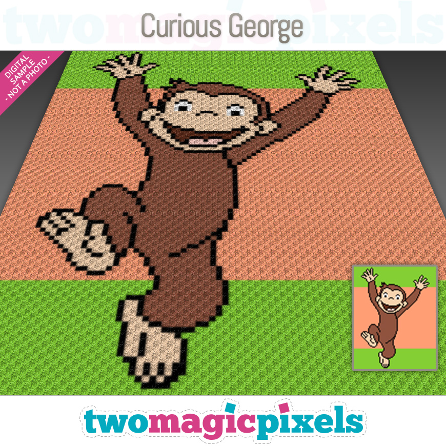 Curious George by Two Magic Pixels