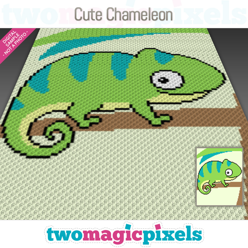 Cute Chameleon by Two Magic Pixels
