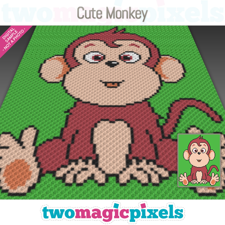 Cute Monkey by Two Magic Pixels