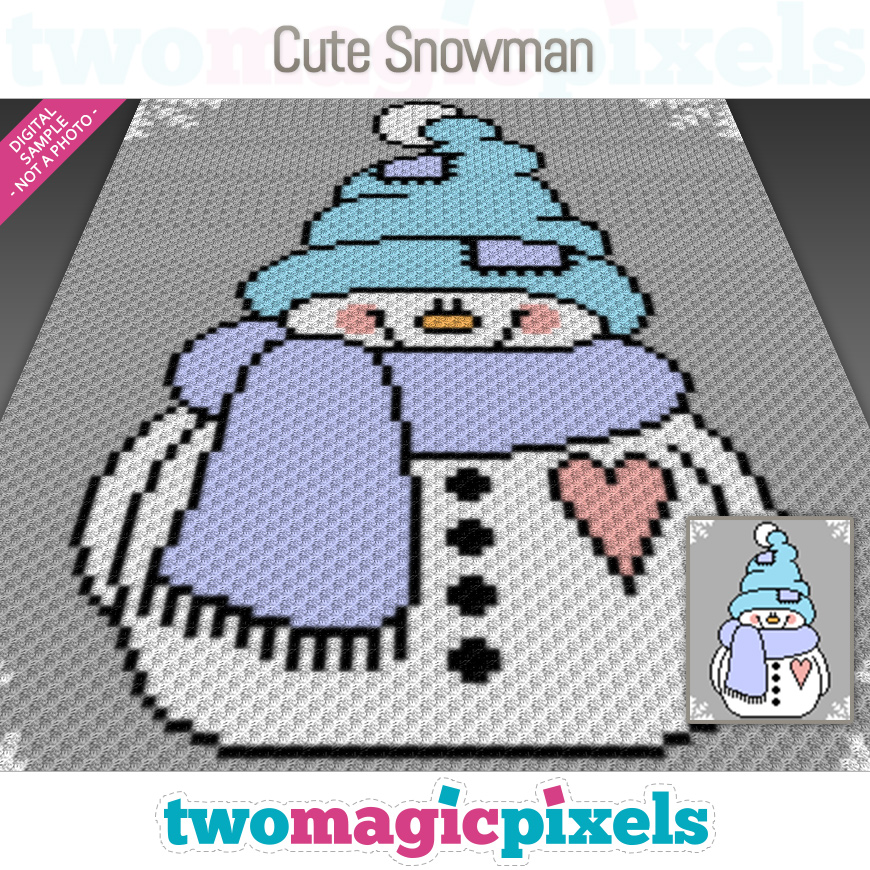 Cute Snowman by Two Magic Pixels