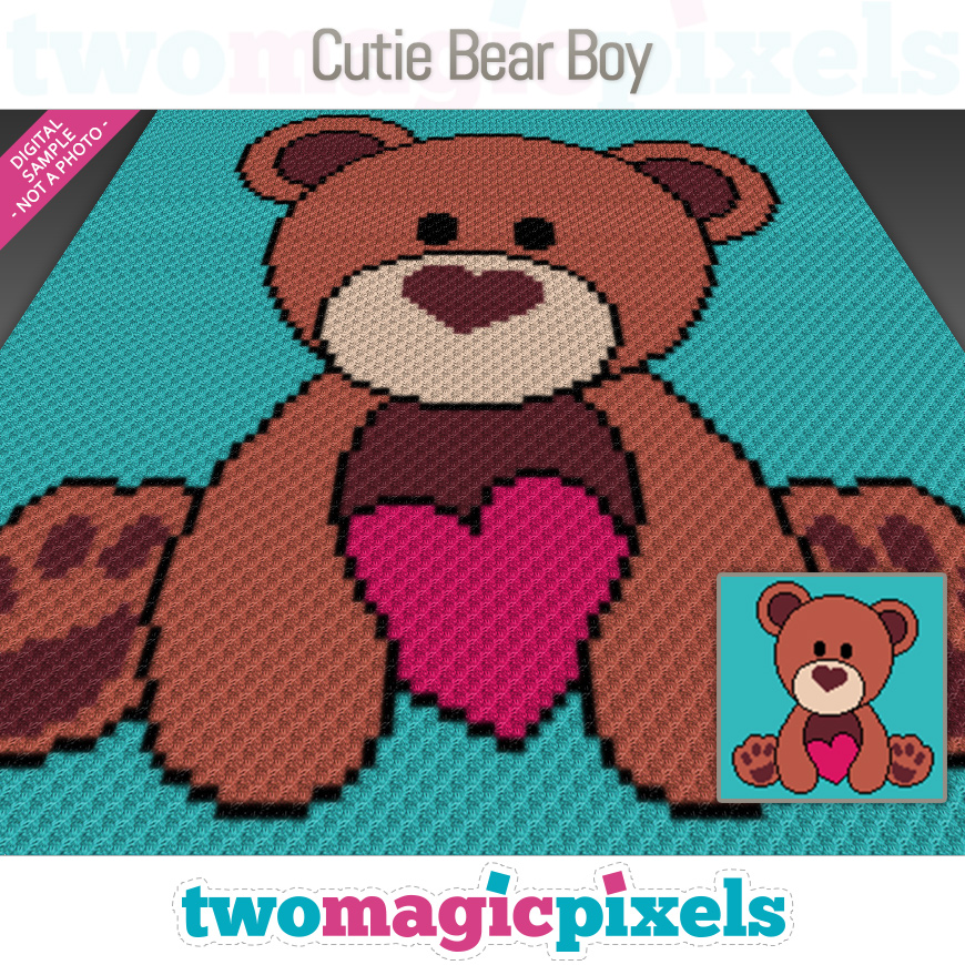 Cutie Bear Boy by Two Magic Pixels