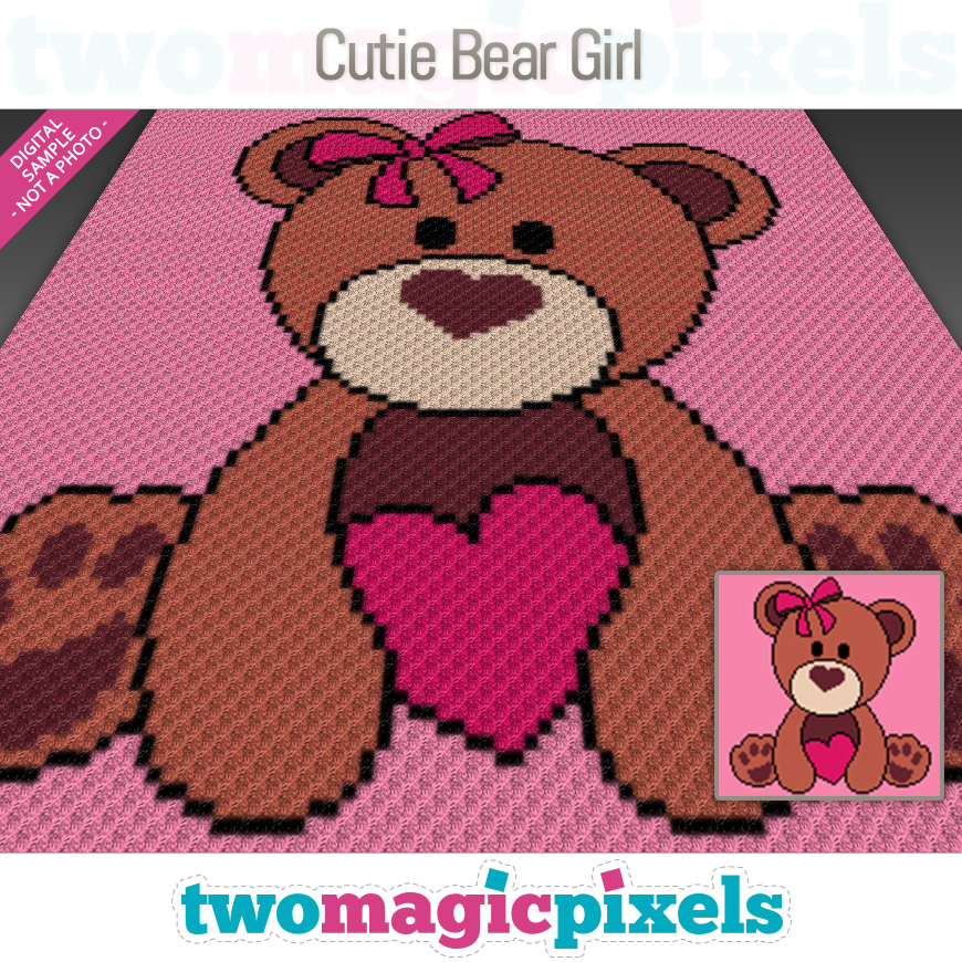 Cutie Bear Girl by Two Magic Pixels
