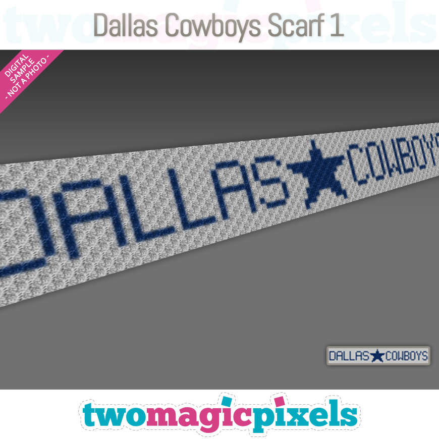 Dallas Cowboys Scarf 1 by Two Magic Pixels