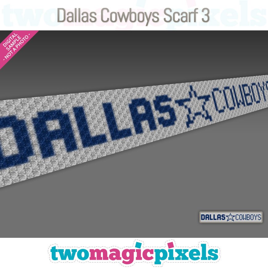 Dallas Cowboys Scarf 3 by Two Magic Pixels