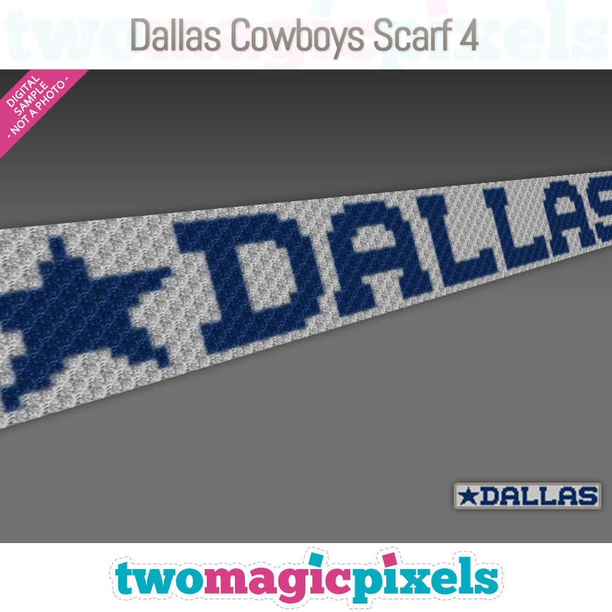Dallas Cowboys Scarf 4 by Two Magic Pixels