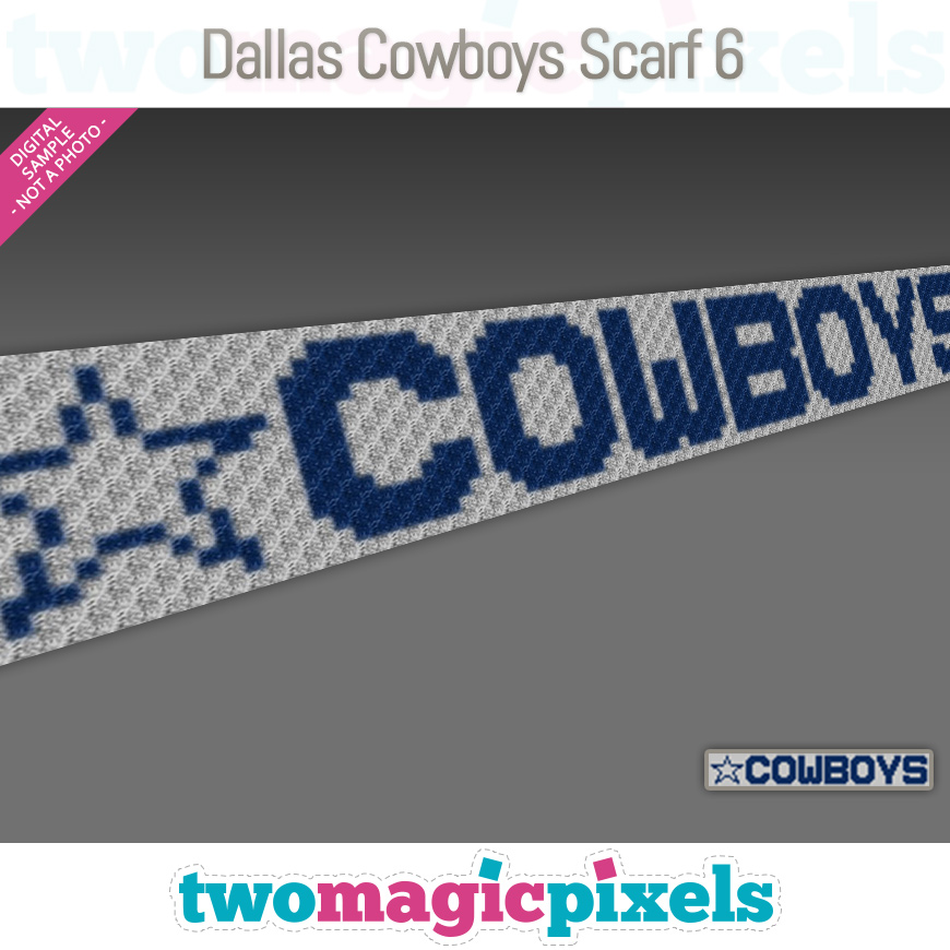 Dallas Cowboys Scarf 6 by Two Magic Pixels