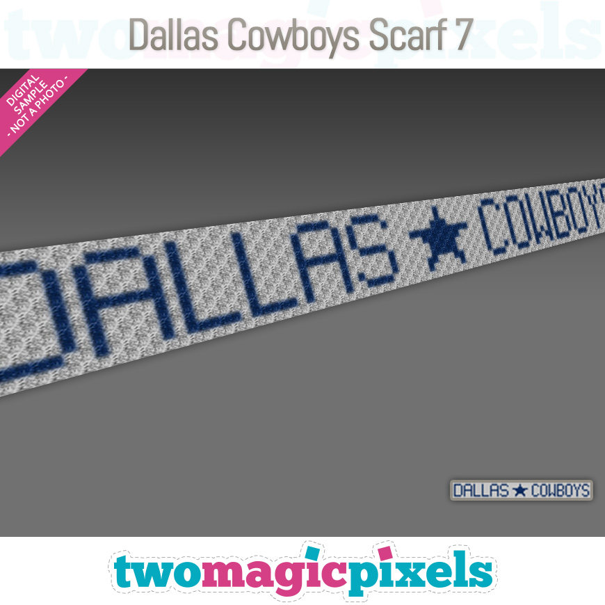 Dallas Cowboys Scarf 7 by Two Magic Pixels