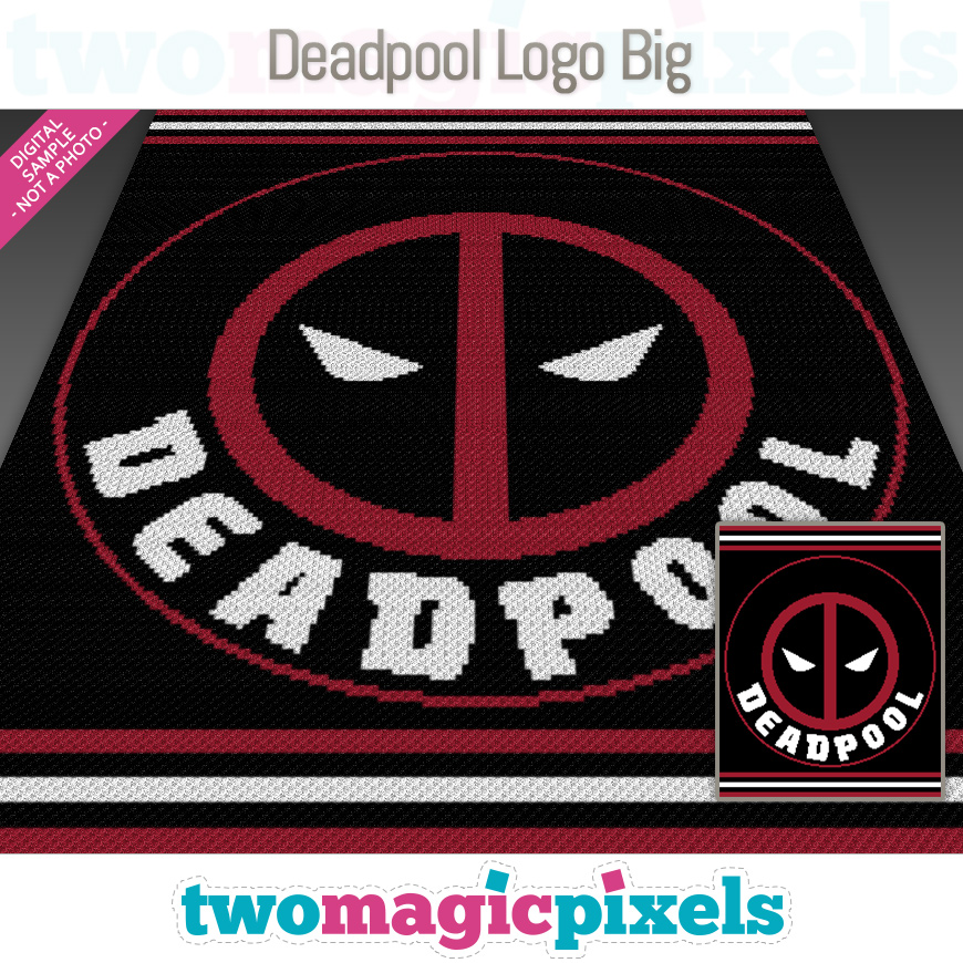 Deadpool Logo Big by Two Magic Pixels