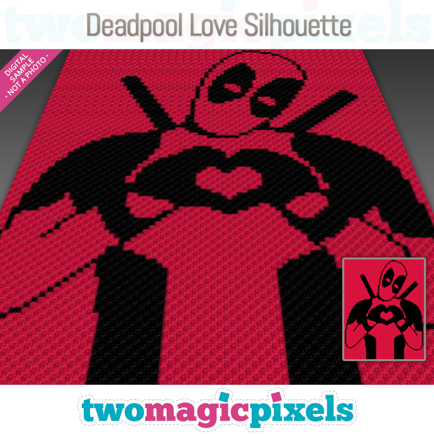 Deadpool Love Silhouette by Two Magic Pixels
