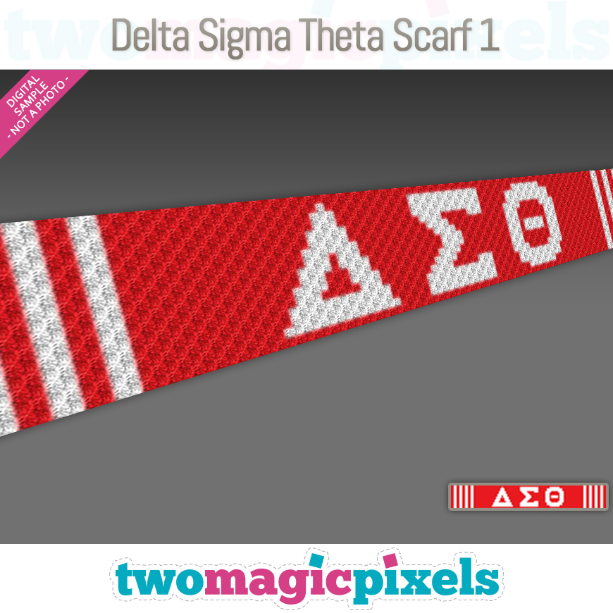 Delta Sigma Theta Scarf 1 by Two Magic Pixels