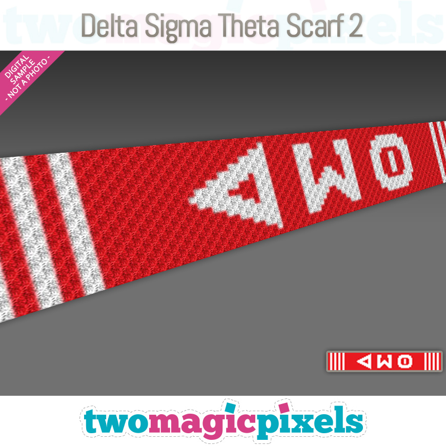 Delta Sigma Theta Scarf 2 by Two Magic Pixels