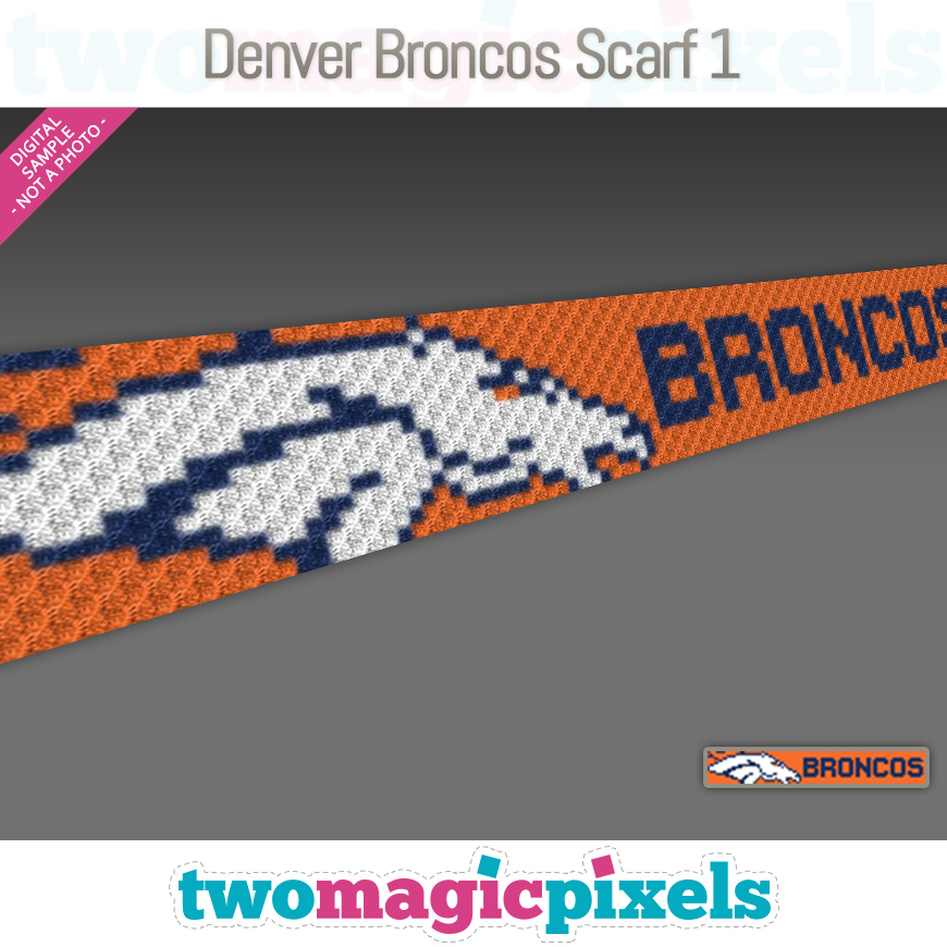 Denver Broncos Scarf 1 by Two Magic Pixels