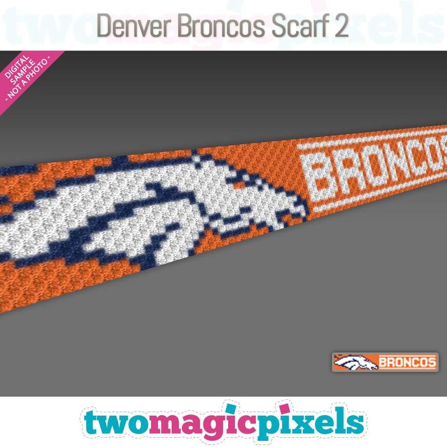 Denver Broncos Scarf 2 by Two Magic Pixels