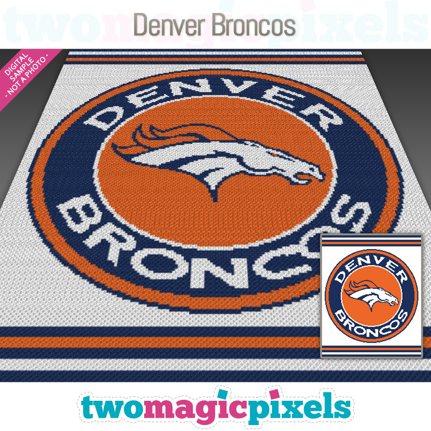 Denver Broncos by Two Magic Pixels