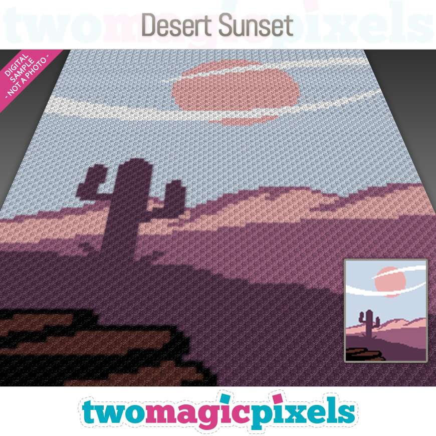 Desert Sunset by Two Magic Pixels