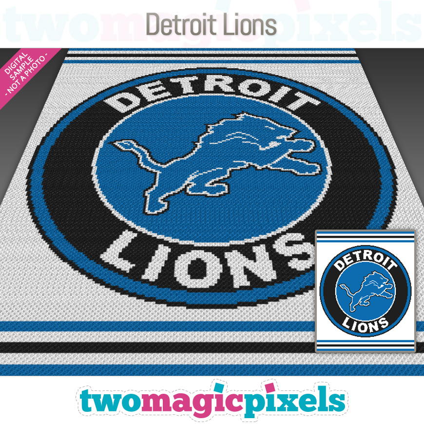 Detroit Lions by Two Magic Pixels