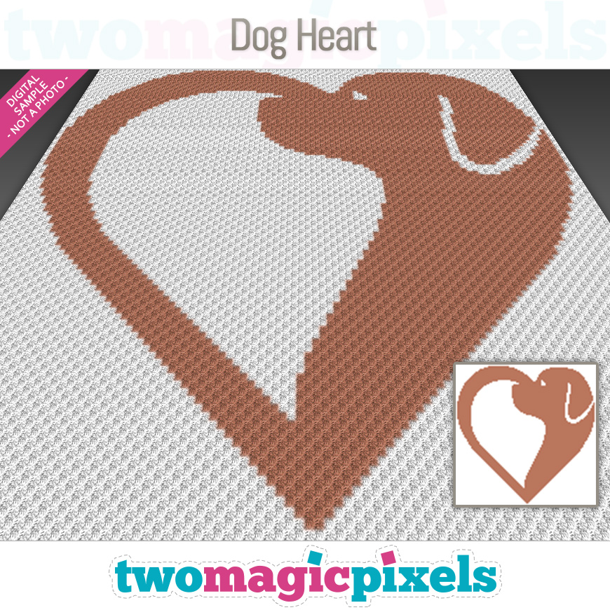 Dog Heart by Two Magic Pixels