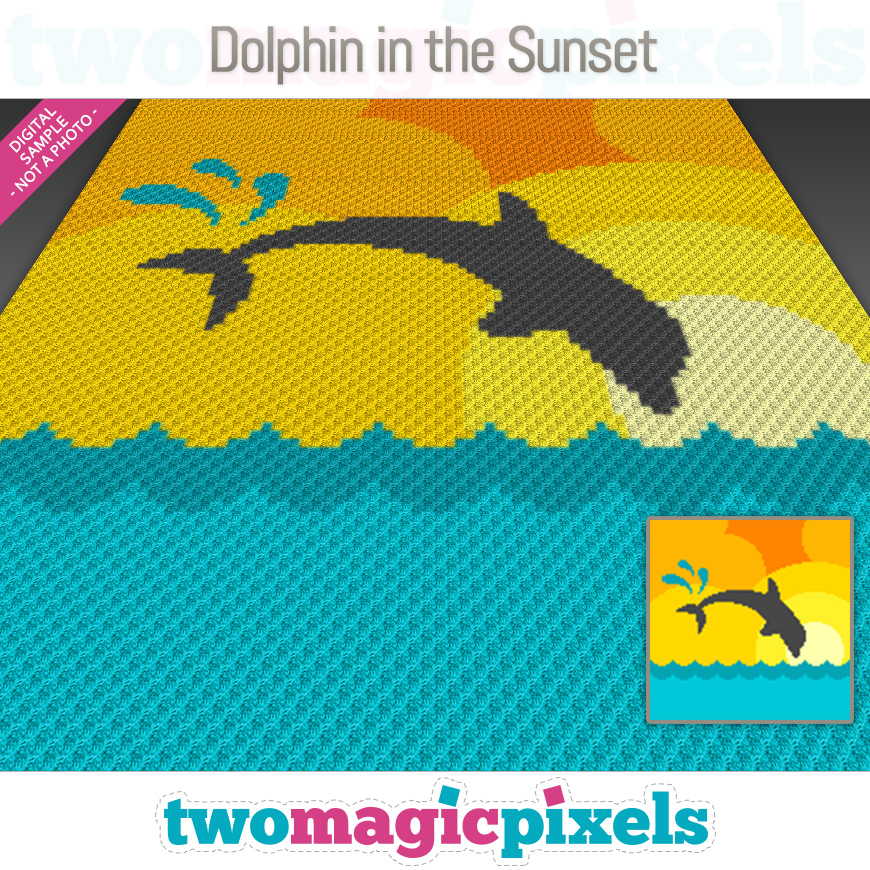 Dolphin in the Sunset by Two Magic Pixels