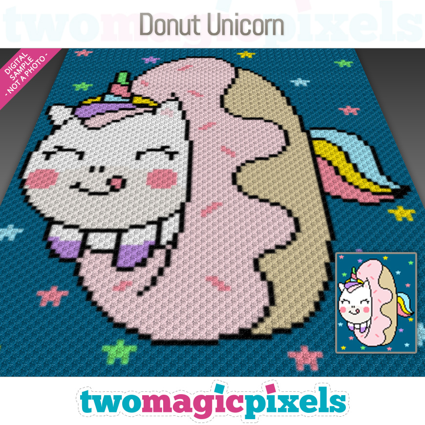 Donut Unicorn by Two Magic Pixels