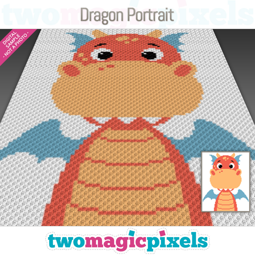 Dragon Portrait by Two Magic Pixels