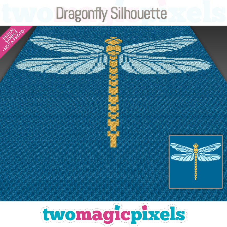 Dragonfly Silhouette by Two Magic Pixels