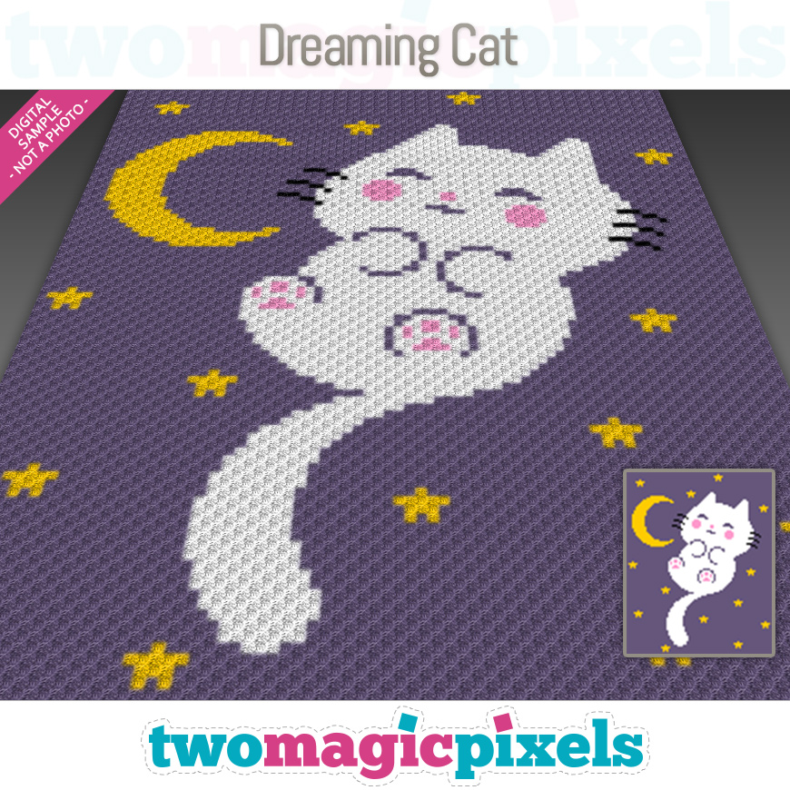 Dreaming Cat by Two Magic Pixels