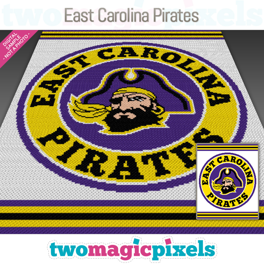 East Carolina Pirates by Two Magic Pixels
