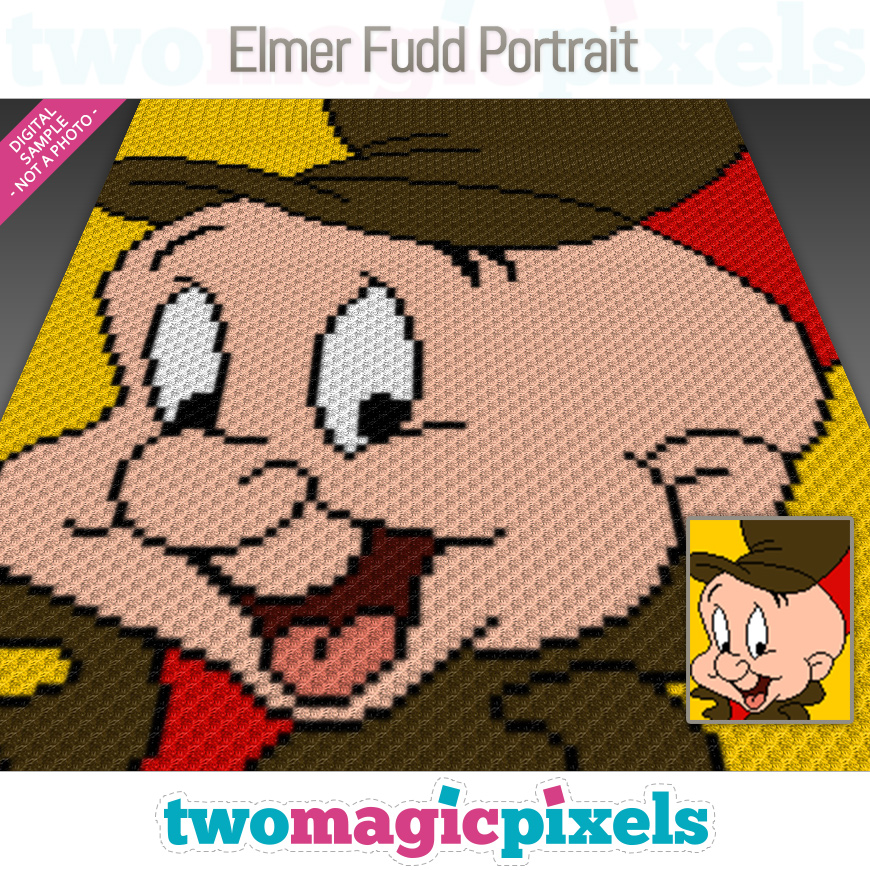 Elmer Fudd Portrait by Two Magic Pixels