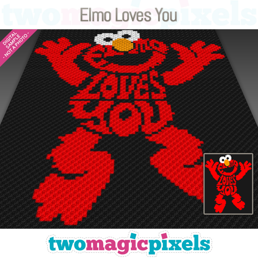 Elmo Loves You by Two Magic Pixels