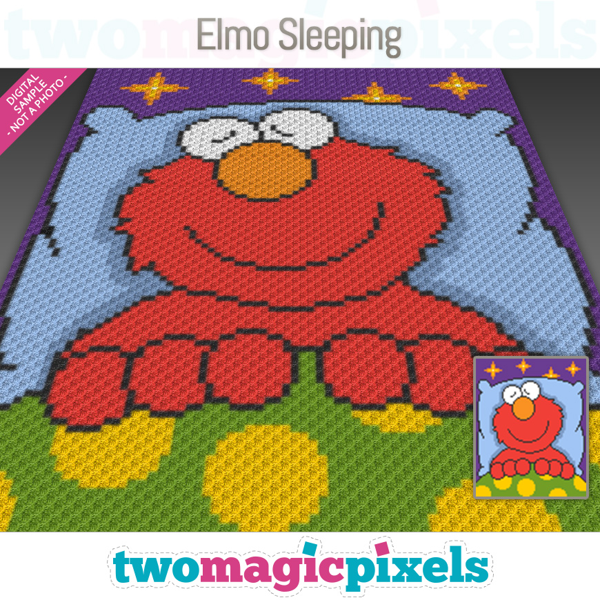 Elmo Sleeping by Two Magic Pixels