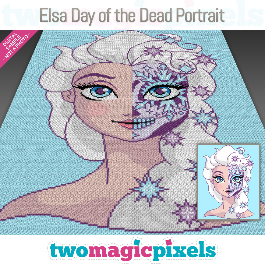 Elsa Day of the Dead Portrait by Two Magic Pixels