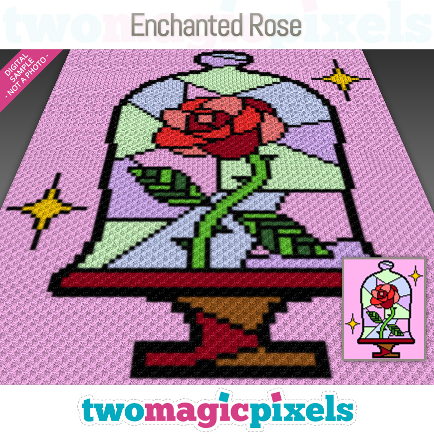 Enchanted Rose by Two Magic Pixels