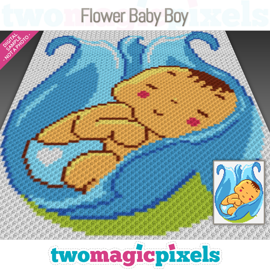 Flower Baby Boy by Two Magic Pixels