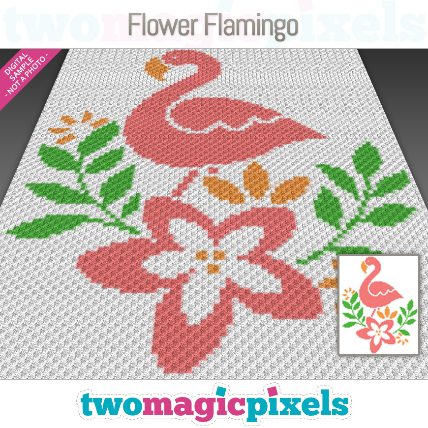 Flower Flamingo by Two Magic Pixels