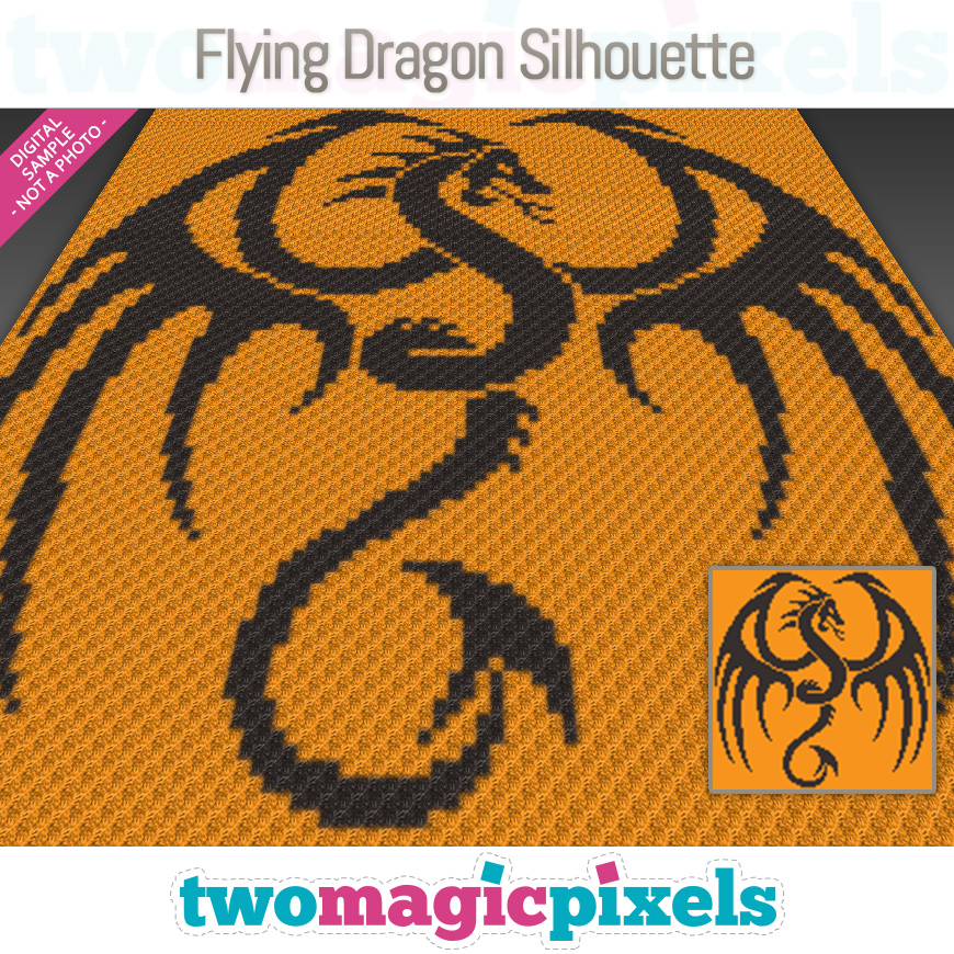 Flying Dragon Silhouette by Two Magic Pixels