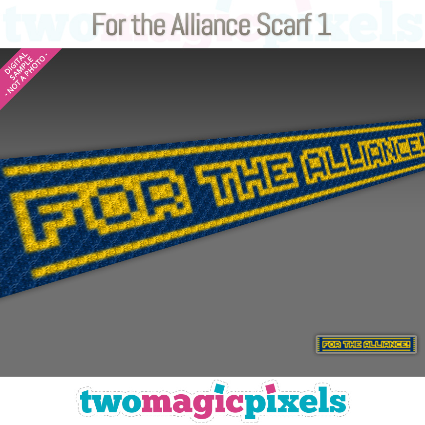 For The Alliance Scarf 1 by Two Magic Pixels