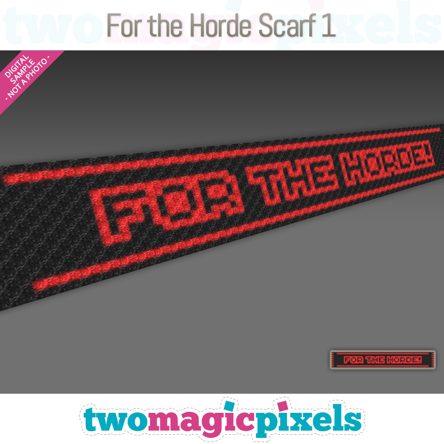 For The Horde Scarf 1 by Two Magic Pixels