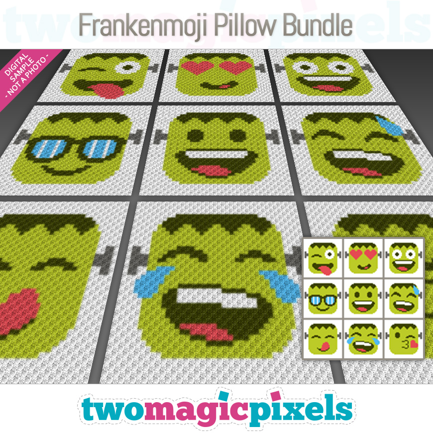Frankenmoji Pillow Bundle by Two Magic Pixels