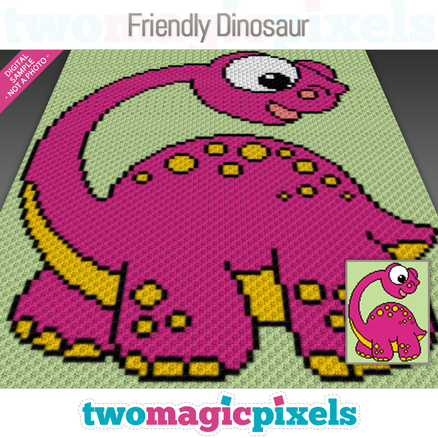 Friendly Dinosaur by Two Magic Pixels