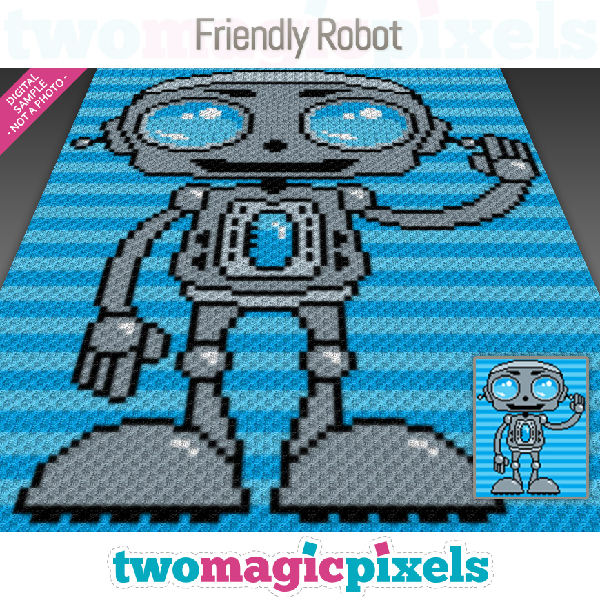 Friendly Robot by Two Magic Pixels
