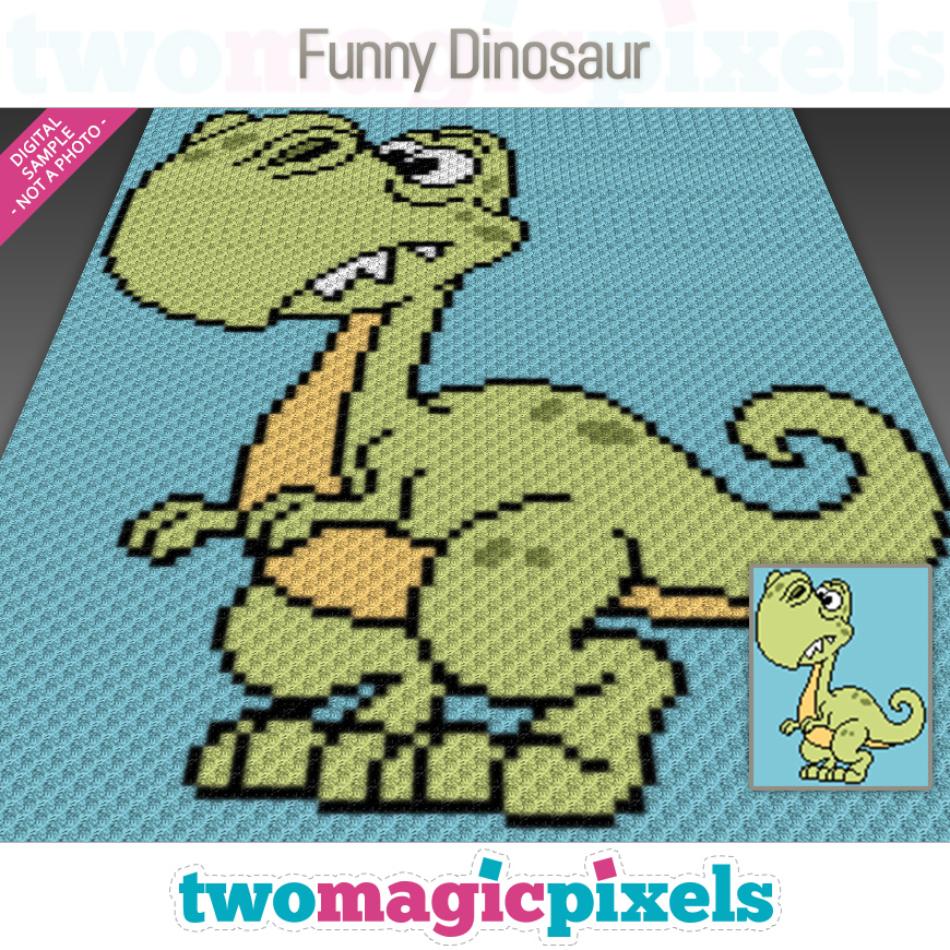 Funny Dinosaur by Two Magic Pixels