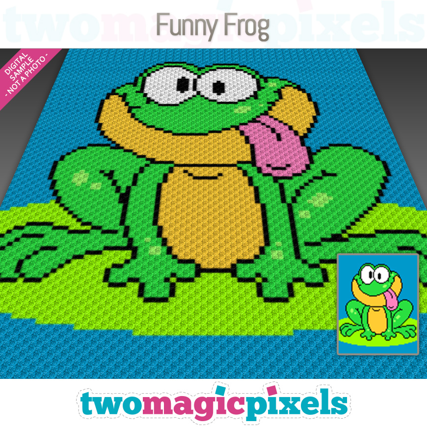 Funny Frog by Two Magic Pixels