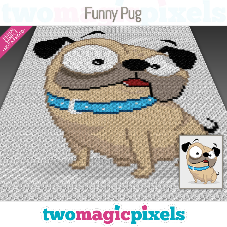 Funny Pug by Two Magic Pixels