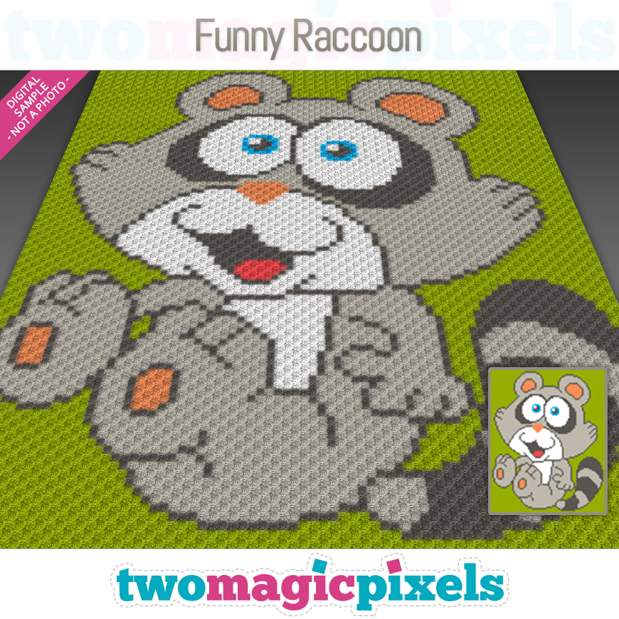 Funny Raccoon by Two Magic Pixels