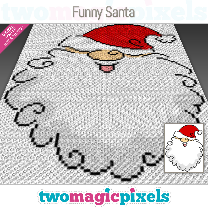 Funny Santa by Two Magic Pixels