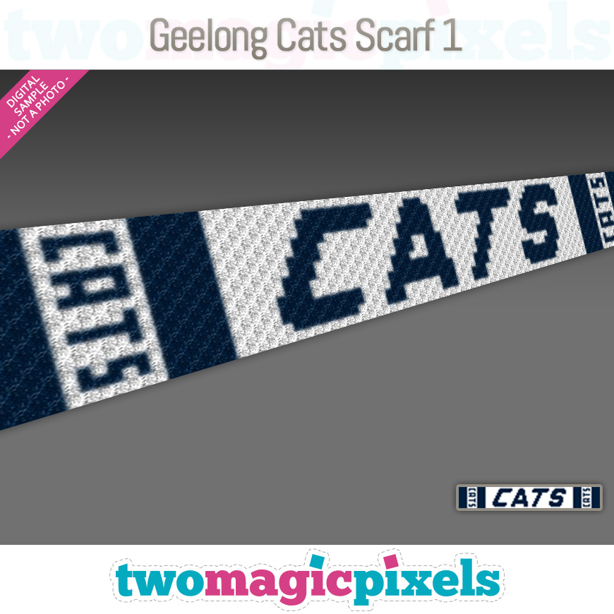 Geelong Cats Scarf 1 by Two Magic Pixels