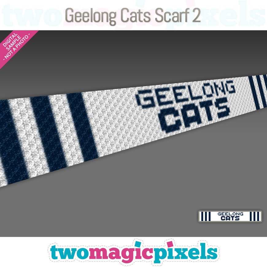 Geelong Cats Scarf 2 by Two Magic Pixels